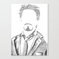 tony stark Canvas Prints featuring Tony Stark by  Steve Wade ( Swade)
