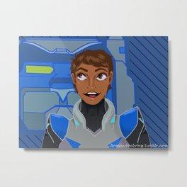 Lance & Blue Metal Print