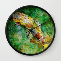 whisky Wall Clocks featuring Fish  by Saundra Myles
