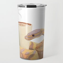 Banana snake, banana muffin, and chai latte Travel Mug