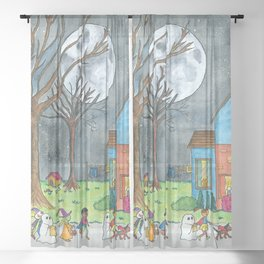 Trick or Treat Sheer Curtain