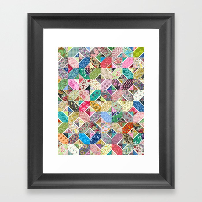 Betty's Diamond Quilt Framed Art Print