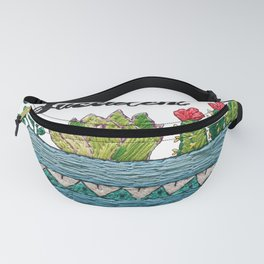 Hand Embroidery Succulent Pot Fanny Pack