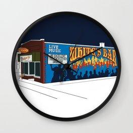 White's Bar- Navy Wall Clock