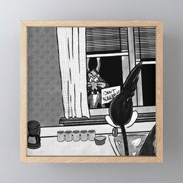 Shazam x Looney Tune Framed Mini Art Print