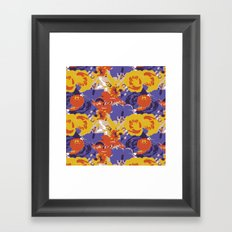 Retro Floral Framed Art Print