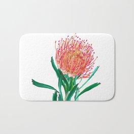 Pincushion protea flower Bath Mat