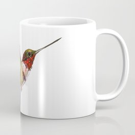 Hummingbird artwork, flying hummingbird Coffee Mug