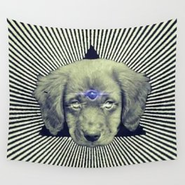 Psychedelic Demon Dog Wall Tapestry