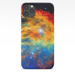 Rainbow Medusa Nebula iPhone Case