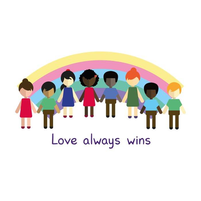 Love always wins Duvet Cover