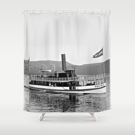 Vintage Mohican Steamboat Shower Curtain
