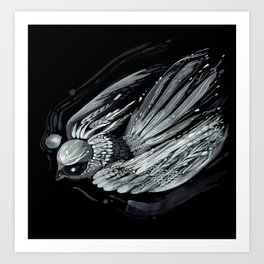 Flight in Midnight Art Print