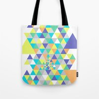 psycho Tote Bags featuring Psycho by Javier Martinez