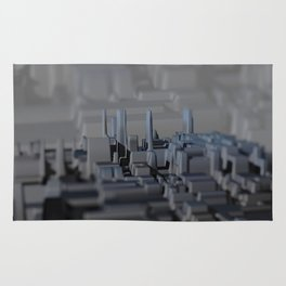 Urban technology buildings space aerial view Rug