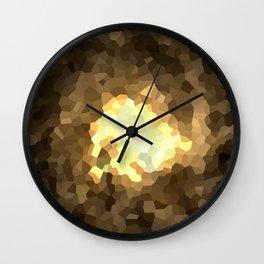 Gold Light Universe Love Wall Clock