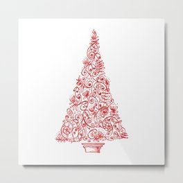 Christmas tree in New Zealand Metal Print