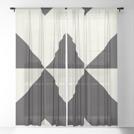 Split X Black Sheer Curtain