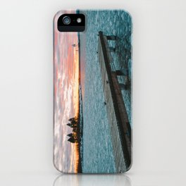 Icy Harbor Sunset iPhone Case