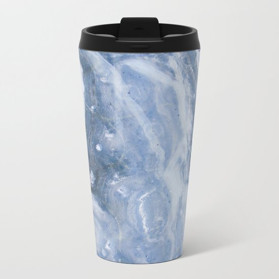 Frozen ocean Metal Travel Mug