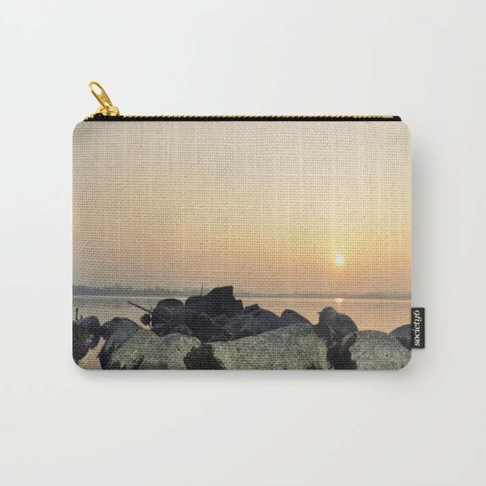 sea stones sunset ### Carry-All Pouch