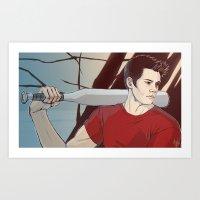stiles Art Prints featuring stiles by kala