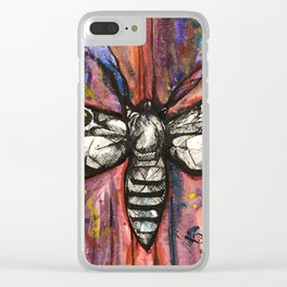 Splatter Moth Clear iPhone Case