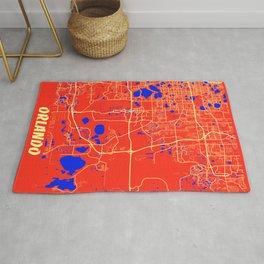 Orlando - United States Retro City Map Rug