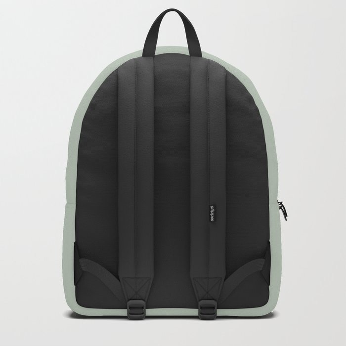 Black Triangles on Grey-Green Backpack