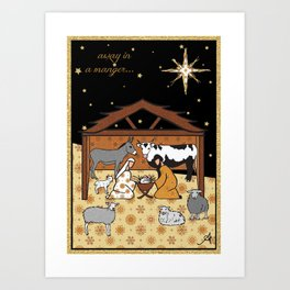 Christmas Nativity - Stable Amanya Design Art Print