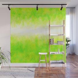 Neon Lemon Lime Abstract Wall Mural