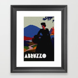 Vintage Abruzzo Italy Travel Poster Framed Art Print
