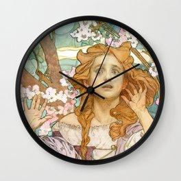 "Alphonse Mucha ""Maude Adams (1872–1953) as Joan of Arc"" Wall Clock"