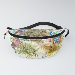 Dinosaur Collage Fanny Pack