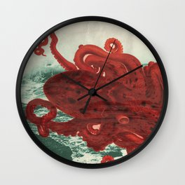 Octopus Beach Wall Clock