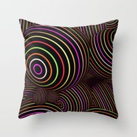 funky Throw Pillows featuring Funky Balls by MehrFarbeimLeben