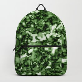 A pastel cluster of green bodies on a light background. Backpack