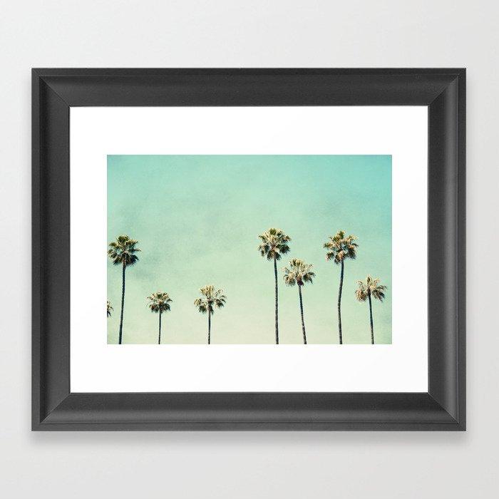 Palm Tree Photography Framed Art Print