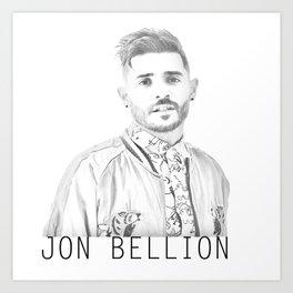 Jon Bellion Illustration with text Art Print