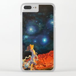 Earth Gazer Clear iPhone Case