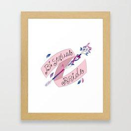 Bisexual Pride Arrow Framed Art Print