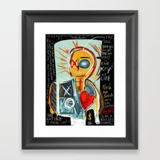 This is my thinking Framed Art Print