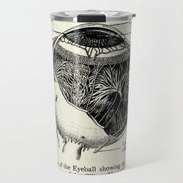Vintage Anatomy The Human Eyeball Travel Mug