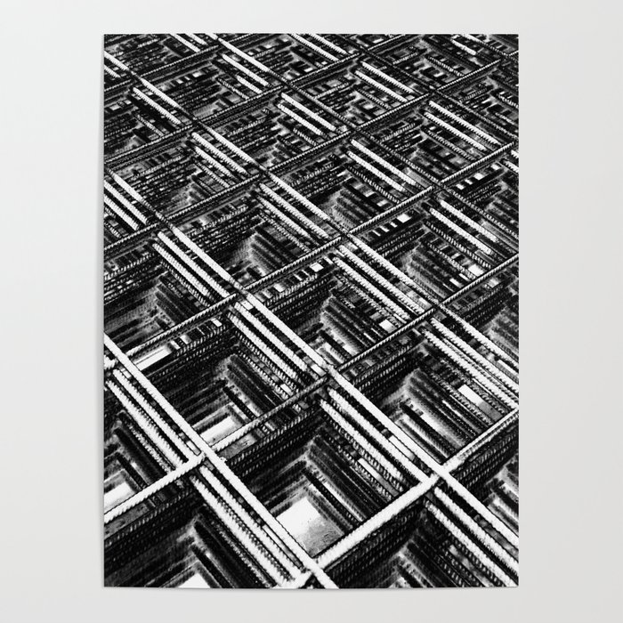 Rebar On Rebar - Industrial Abstract Poster by kmstahlros | Society6