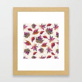 Maple Pattern Framed Art Print