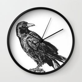 Perched Crow Wall Clock