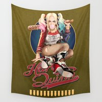 harley quinn Wall Tapestries featuring Harley Quinn by Reducto