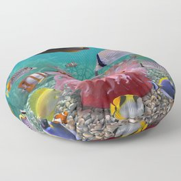 Tropical Fish Floor Pillow