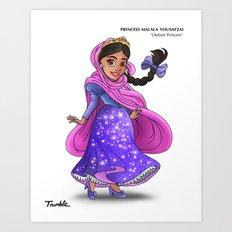 Princess Malala Yousafzai (Trumble Cartoon) Art Print