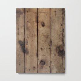 Burnt WoodGrain Metal Print